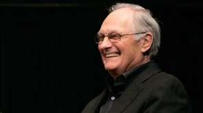 Actor Alan Alda speaks during a Q &