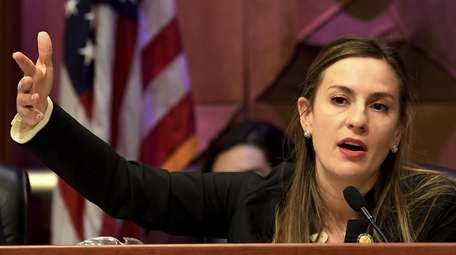 State Sen. Alessandra Biaggi, D-Bronx, speaks to state