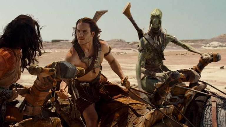Pictured from left: Dejah Thoris (Lynn Collins), John