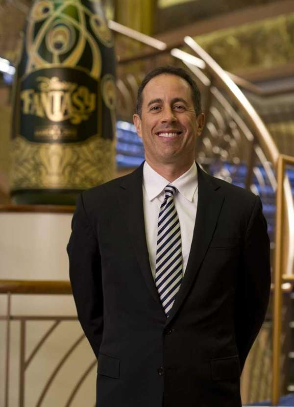 Jerry Seinfeld is photographed aboard the newest ship