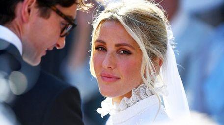 Newly married singer Ellie Goulding and art dealer