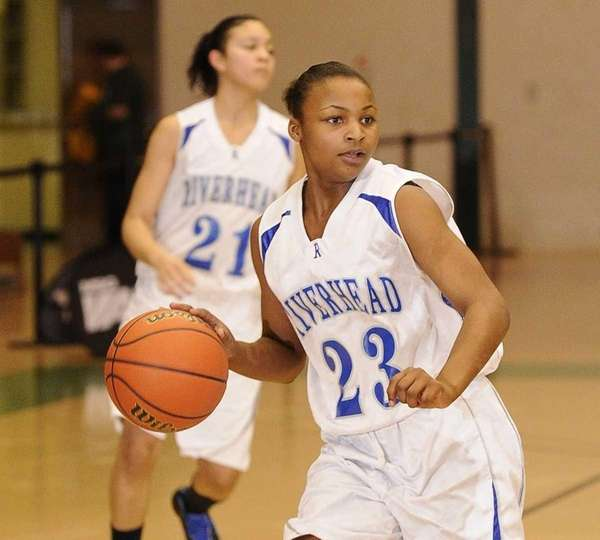 Riverhead guard Shanice Allen controls the ball against
