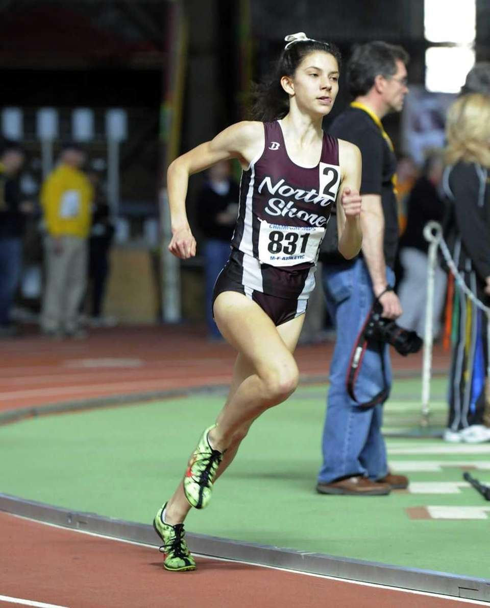 Brianna Nerud of North Shore ran 4:29.21 in
