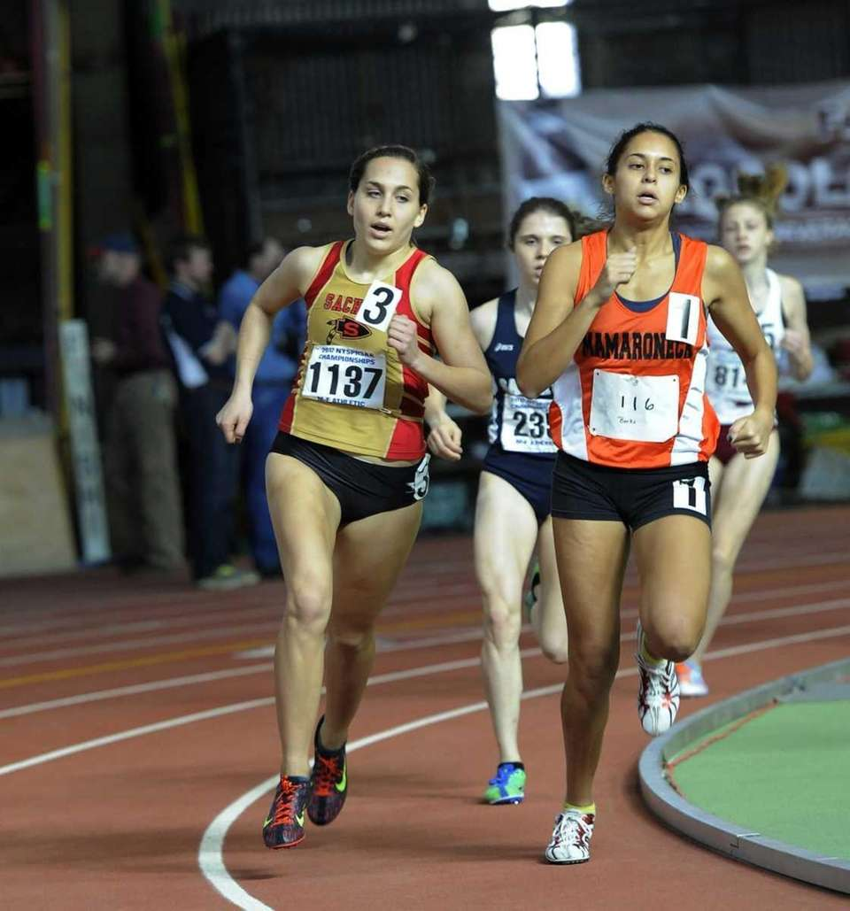Rachel Paul of Sachem East during the 1,000
