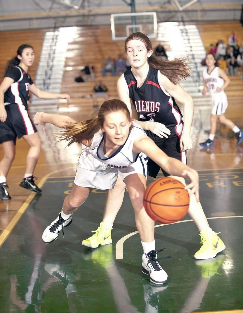 Cold Spring Harbor's Brooke Jensen reaches for a