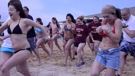 Plungers run out of the Great South Bay