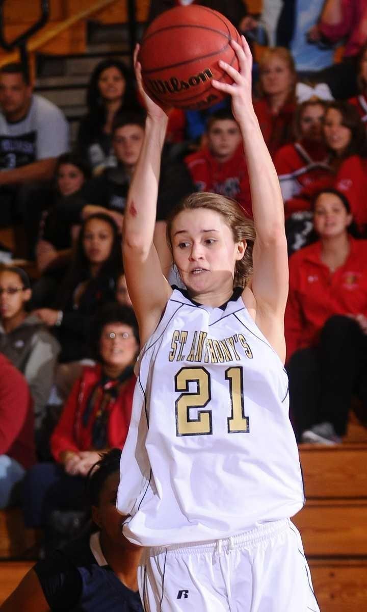St. Anthony's #21 Johanna Impellizeri grabs a rebound