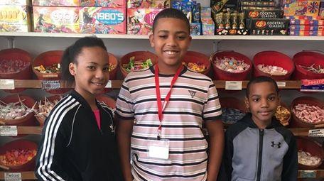 Kidsday reporters Samantha Silie, Daniel Rivas and Sandy