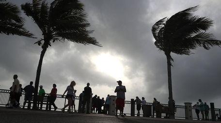 VERO BEACH, FL - SEPTEMBER 02: People stand