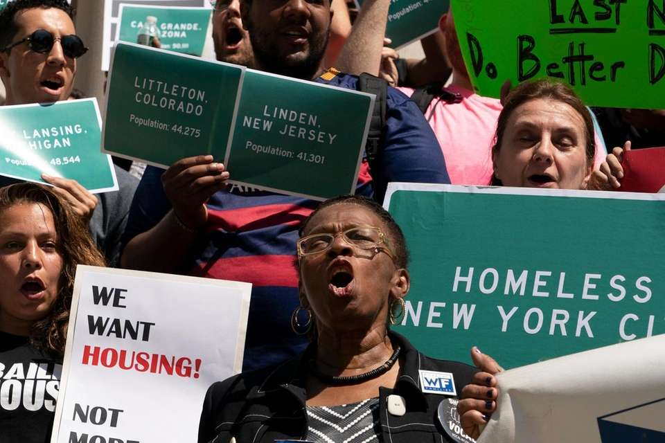Homeless New Yorkers and their advocates demand action