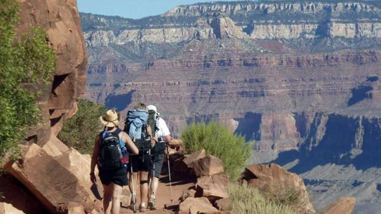 Imagine yourself hiking a trail in Grand Canyon