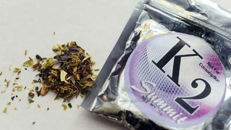 A file photo of a package of K2,