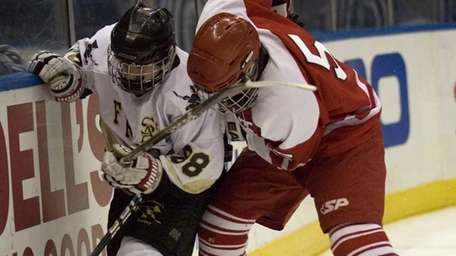 St. Anthony's Joseph Slevin fights for control of