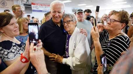 Former Vice President Joe Biden on a campaign