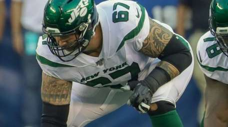 Jets offensive lineman Brian Winters, who suffered a