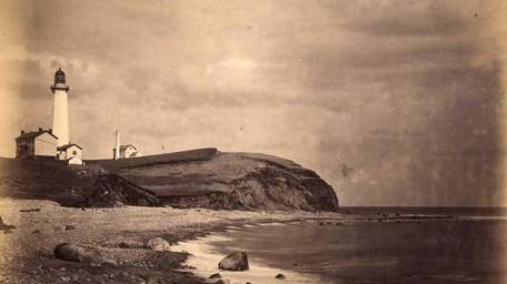 The Montauk Lighthouse seen in the late 1800's.