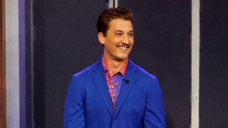 "Actor Miles Teller appears on ""Jimmy Kimmel Live!"""