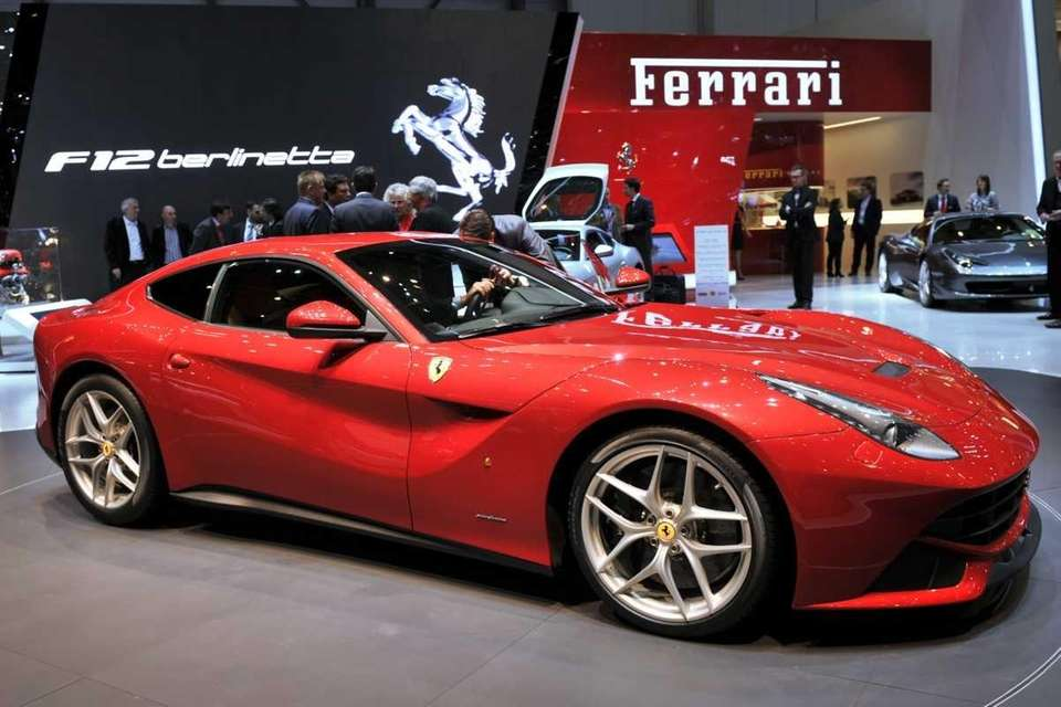 A new Ferrari F12 Berlinetta makes its world