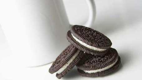Stock photo of three Oreo cookies with a
