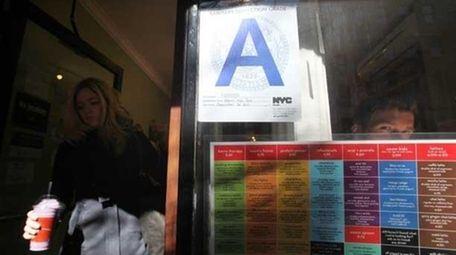 Restaurants' letter gradings.