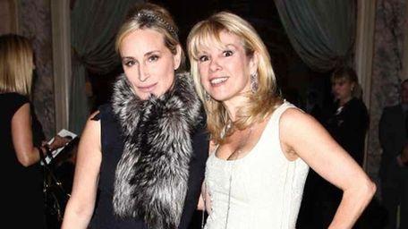 Sonja Morgan (L) and Ramona Singer (R) of