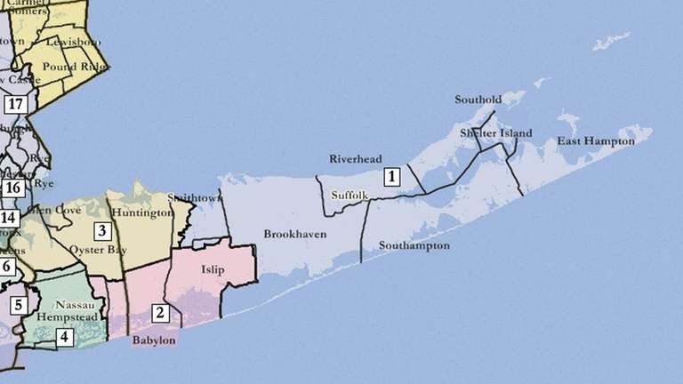 New congressional districts suggested by a federal magistrate