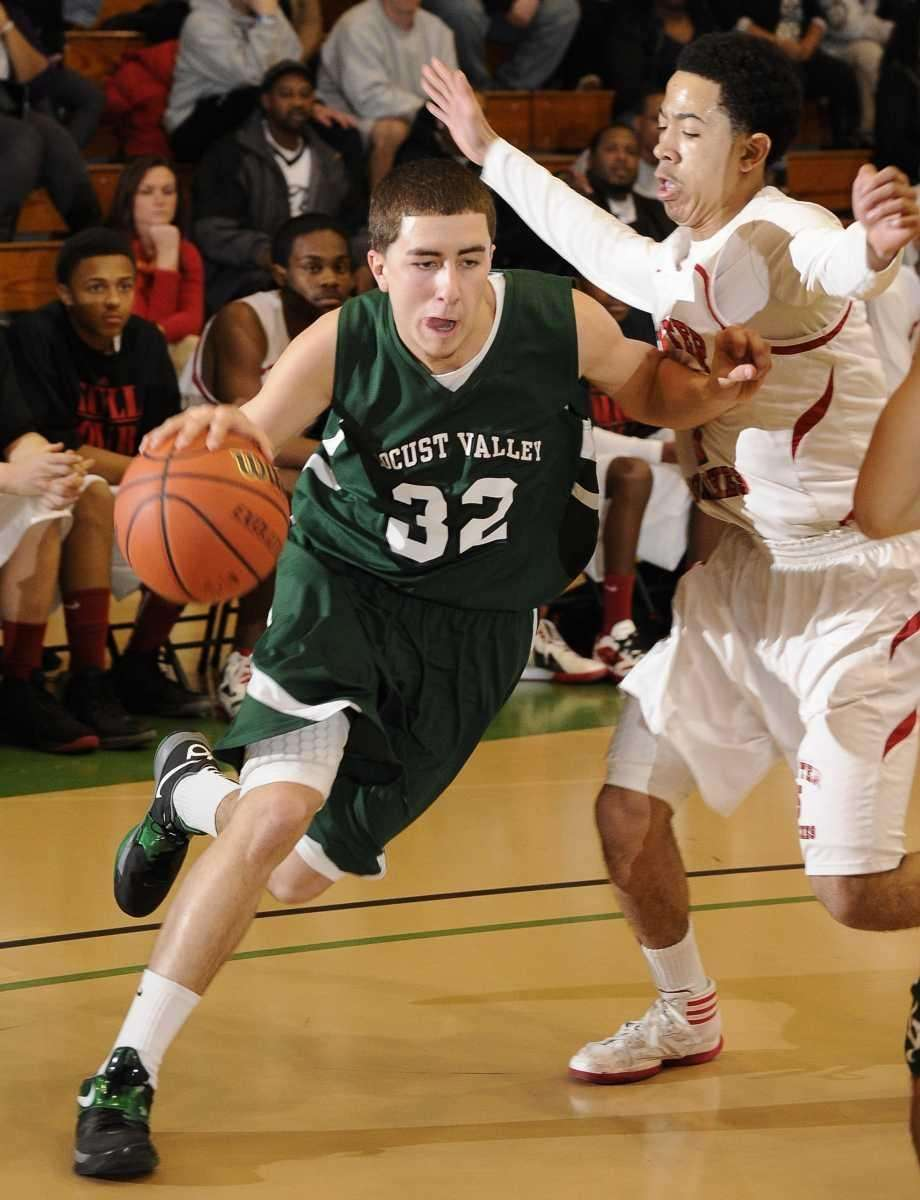 Locust Valley's Matt Campanella drives around Center Moriches'