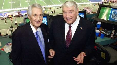 Pat Summerall, left, and John Madden in the