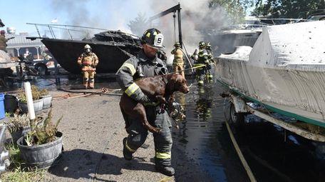 West Islip Fire Department Capt. Jeff Kempf Jr.