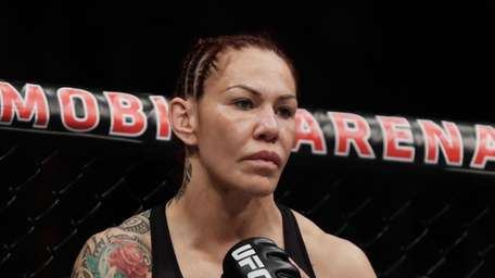 Cris Cyborg waits for the bell during a