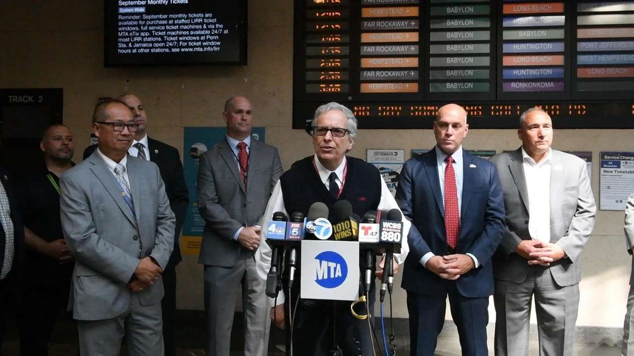 LIRR conductor Jerry Savino and other crew memberswere