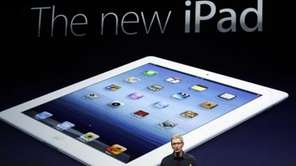 Apple chief executive Tim Cook introduces the new
