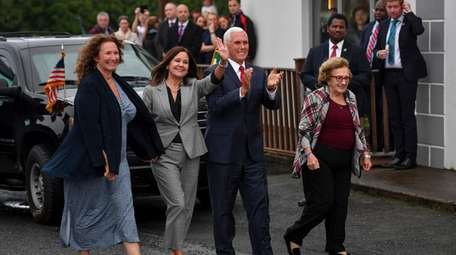Vice President Mike Pence with his wife, Karen