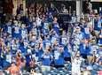 Mets fans in the sixth inning against the