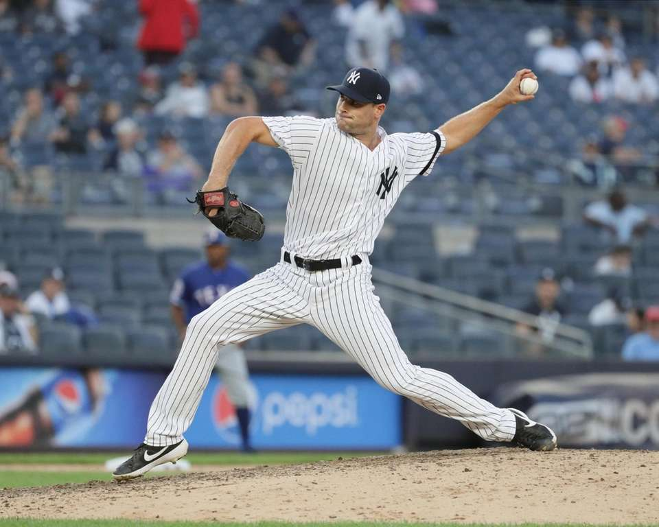 New York Yankees relief pitcher Tyler Lyons #70