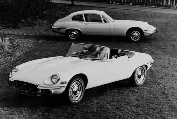 These are Jaguar's E-type 5.3 liter models, designed