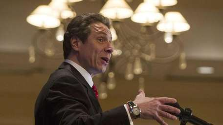 Gov. Andrew Cuomo speaks to the New York