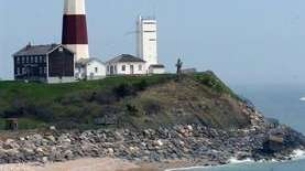 A view of the Montauk Point Lighthouse from
