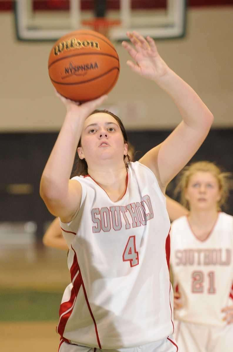 Southold's forward Melissa Rogers shoots a free throw