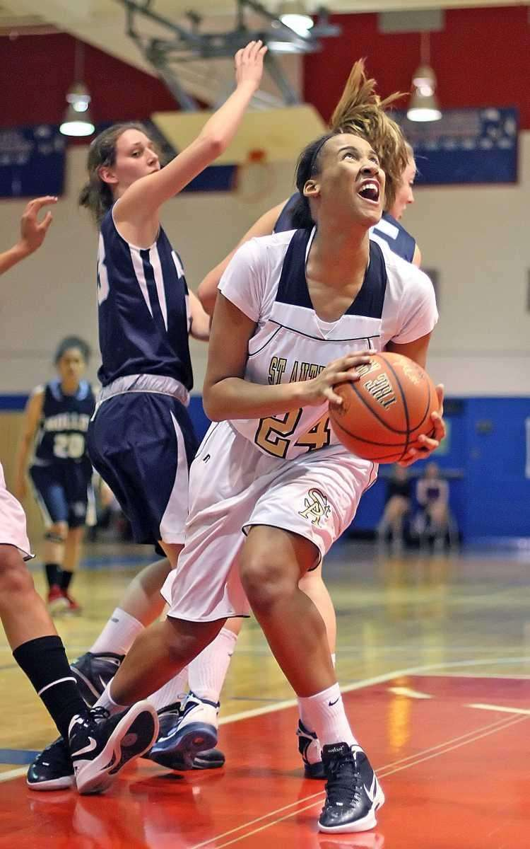 St. Anthony's Symone Kelly takes control off a