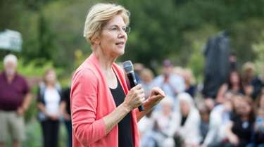 Sen. Elizabeth Warren delivered a presidential campaign speech
