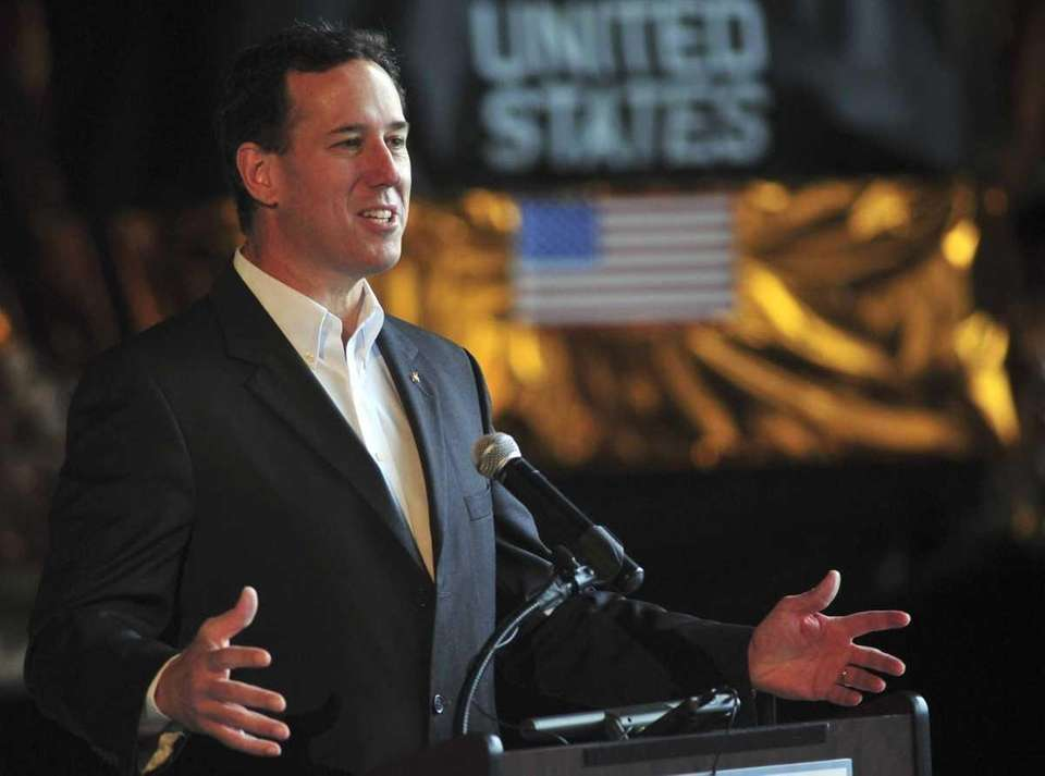 Republican presidential candidate Rick Santorum speaks at the