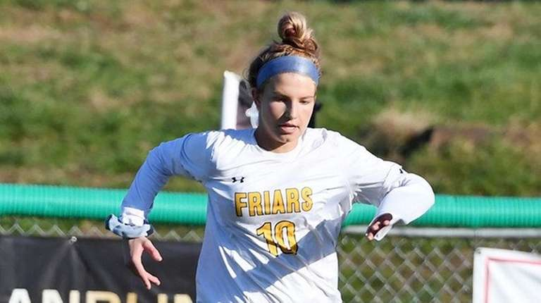 Brianna Jablonowski of St. Anthony's gets away from