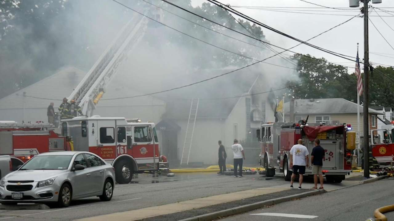 Four firefighters were injured Wednesday responding to a