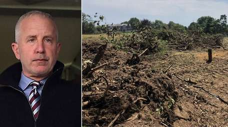 The Peconic Land Trust is suing Randy Lerner