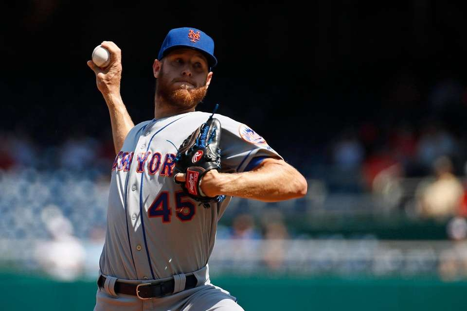 Mets starting pitcher Zack Wheeler delivers to the