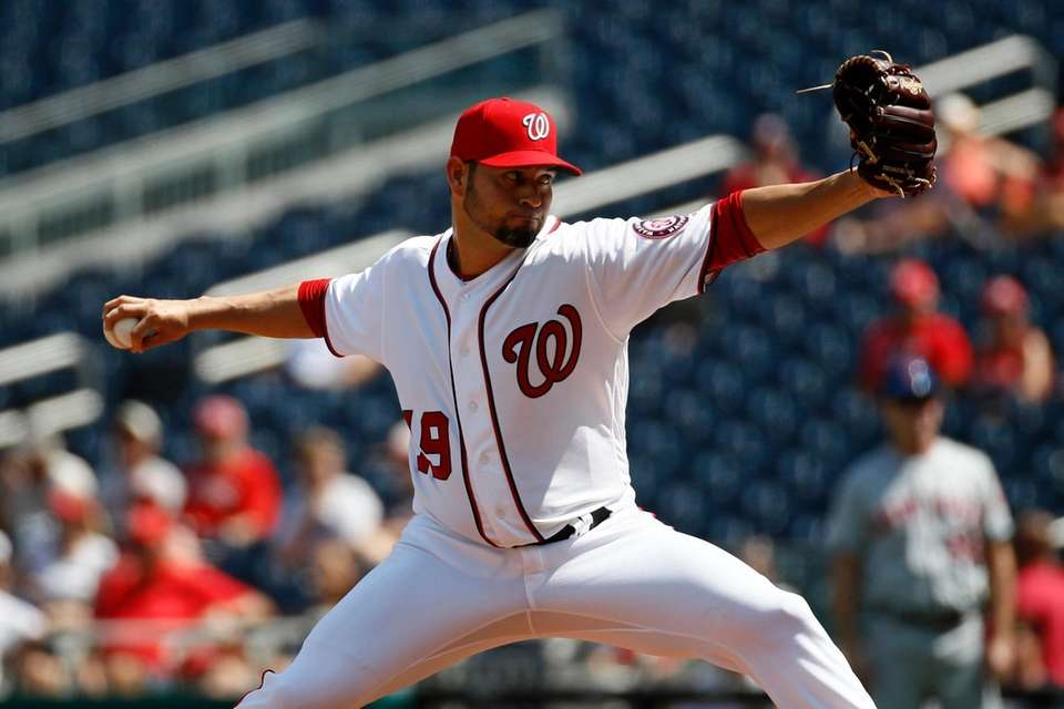 Nationals starting pitcher Anibal Sanchez delivers to the