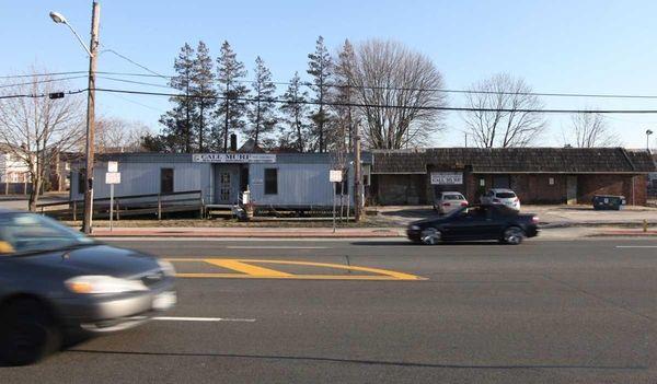 The trailer on East Montauk Highway in Lindenhurst.