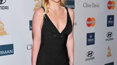 Britney Spears arrives at the Pre-Grammy Gala &