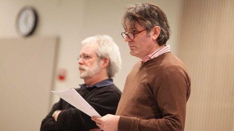 Director Bartlett Sher and John Weidman during rehearsal
